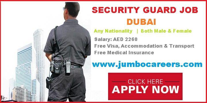 Security Guard Vacancy In Dubai With Free Visa And Accommodation In 2021 Security Guard Jobs Security Guard Dubai