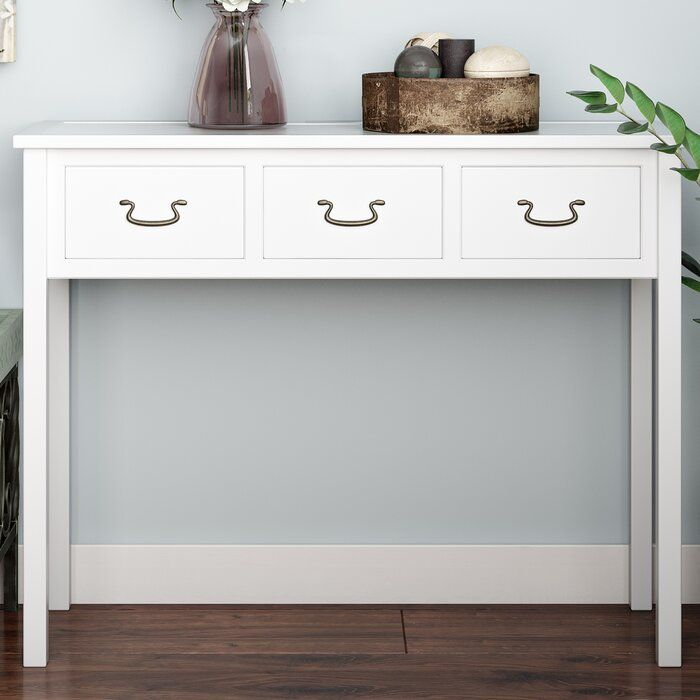Sadie 39 4 Solid Wood Console Table Console Table White