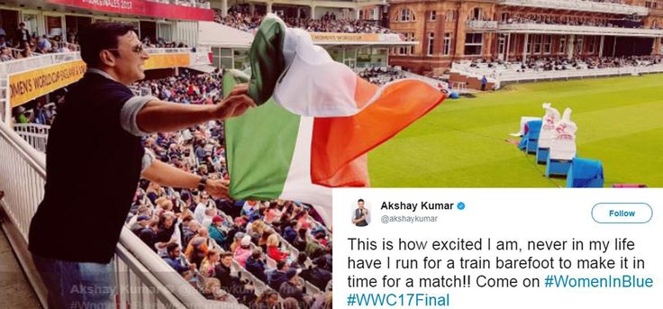 Akshay Kumar Runs Barefoot To Watch The Indian Womens Cricket Team