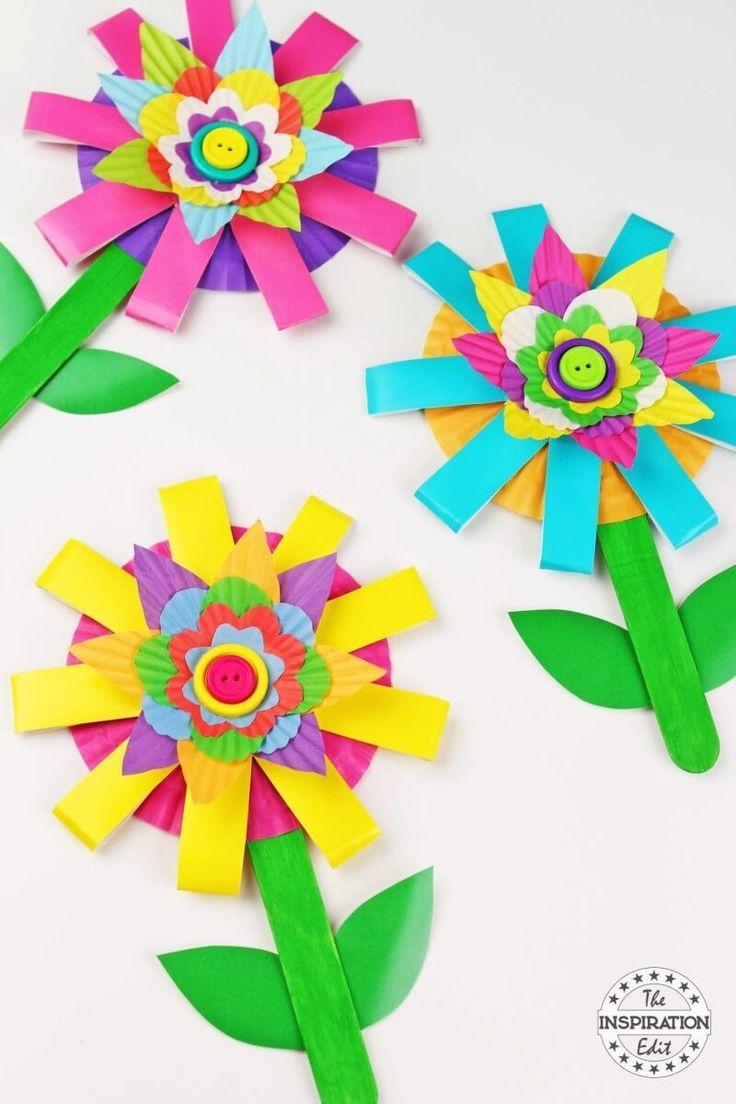 Paper Cup Flower Craft Kids Will Love Flower Crafts Flower