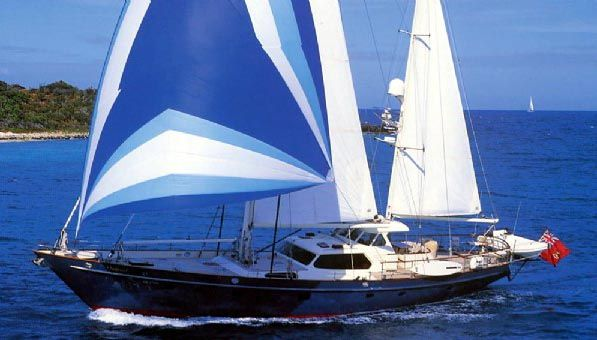 Aurastel, 90' (Ex-Too Elusive) This sail yacht for sale is a world cruising, all ocean sailing yacht.