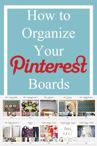 Organising your Pinterest Boards..... Keeping things cleaner, orderly, and much more useful!