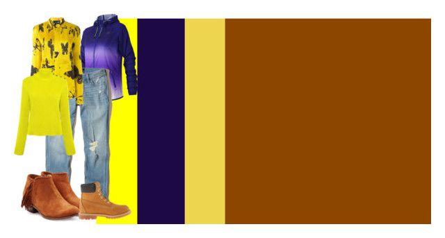"""ecomplementarioalamarillo270317"" by elamaldonado on Polyvore featuring moda, New Balance, Hollister Co., MICHEL KLEIN, RED Valentino, Sam Edelman y Timberland"