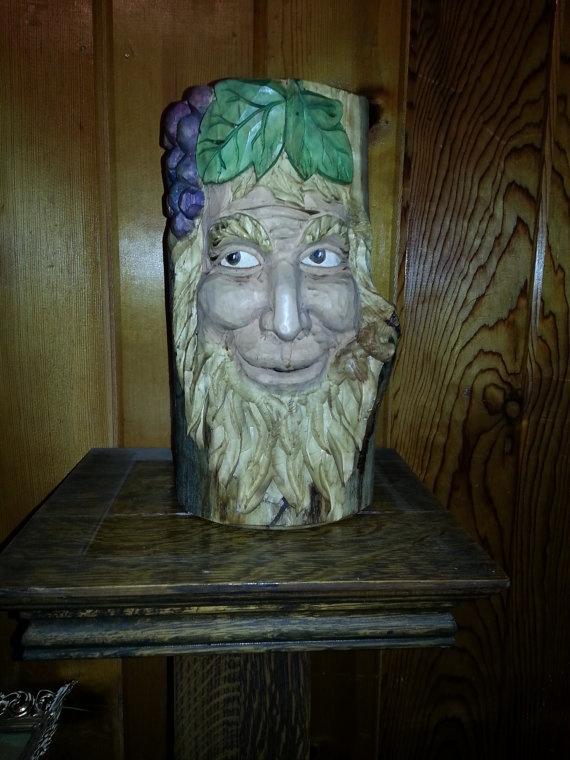 Bacchus Wine Holder by MarbleMountainArts on Etsy, $125.00