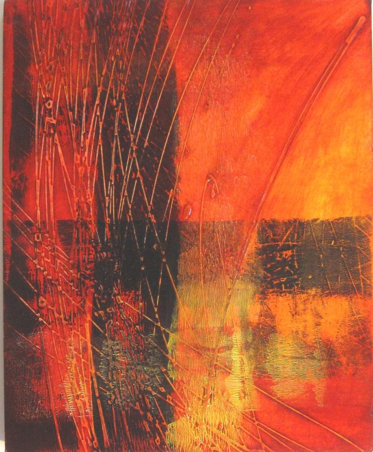 """Acrylic 11x14  """"Fire"""" by a r marshall"""
