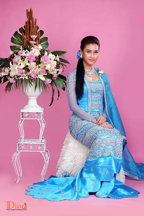 163 Best Myanmar Wedding Dress Images On Pinterest