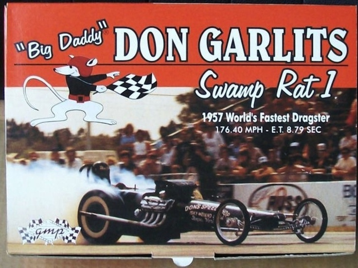 """Big Daddy"" Don Garlits Swamp Rat 1. World's Fastest Dragster 1957"