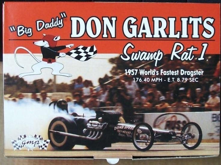 """Big Daddy"" Don Garlits Swamp Rat 1. World's Fastest Dragster 1957"