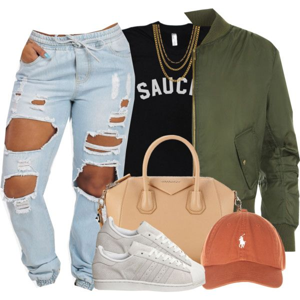 A fashion look from December 2015 featuring WearAll jackets, adidas sneakers and Givenchy handbags. Browse and shop related looks.