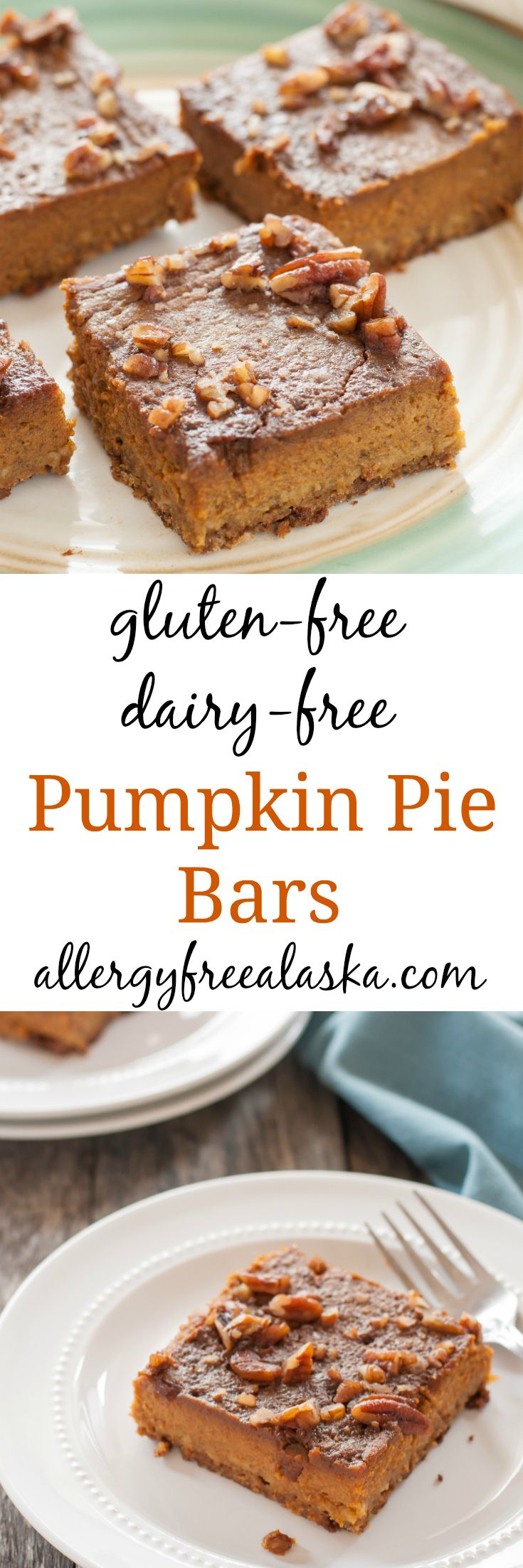 Gluten Free Dairy Free Pumpkin Pie Bars | Recipe ...