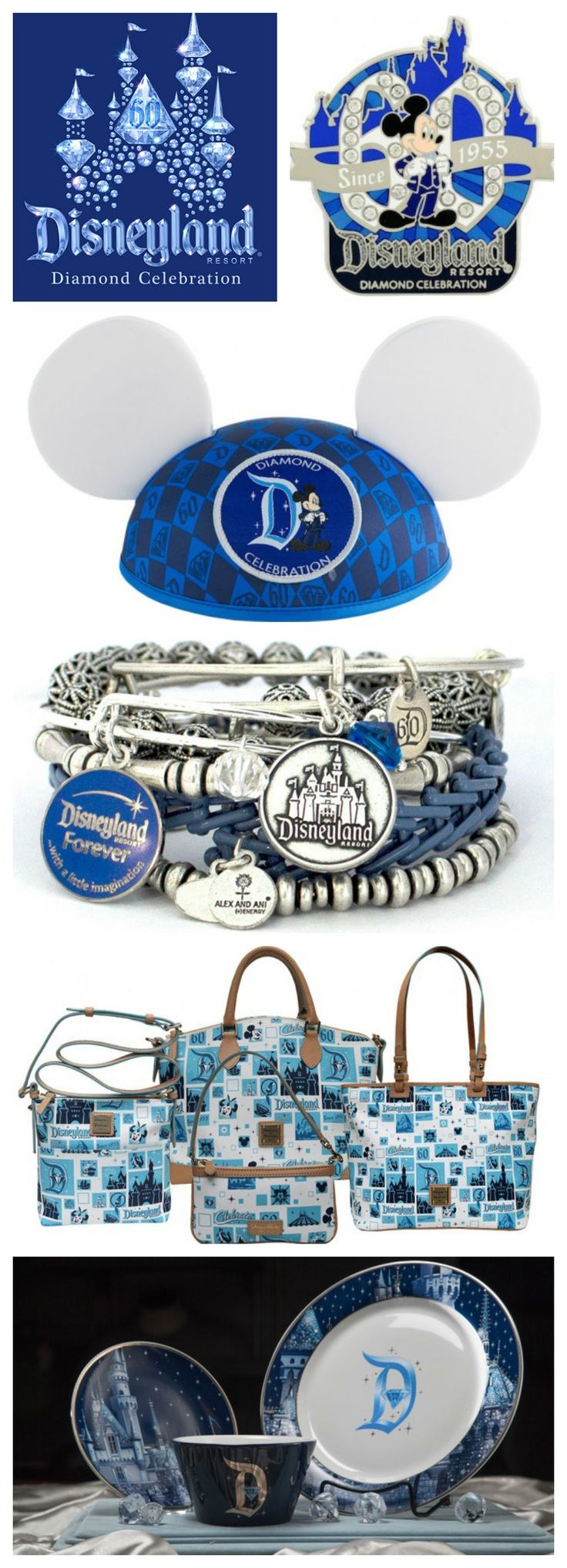 Get a closer look at some of the dazzling items available for Disneyland's Diamond Anniversary Celebration  #Disneyland60 #Disneyland #shopping