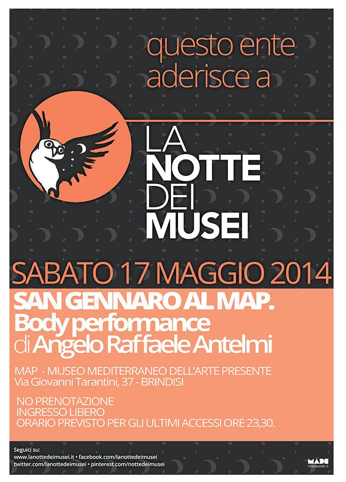 SAN GENNARO AL MAP. Body performance di Angelo Raffaele Antelmi. Notti Medievali  #ndm14 #ndm14italia #brindisi