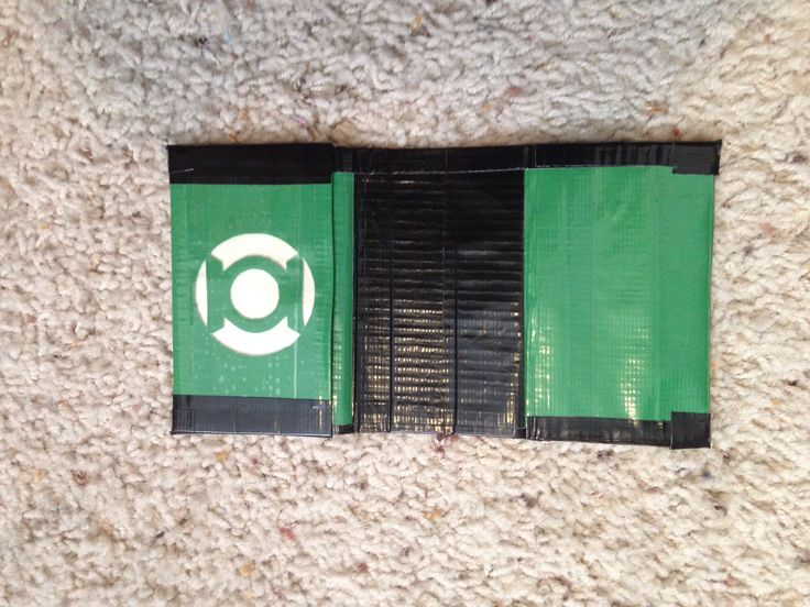 Green Lantern duct tape wallet