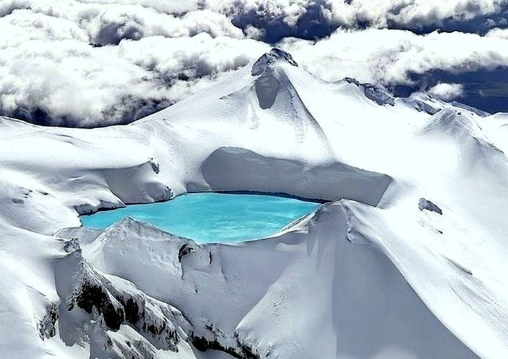 The Emerald Lakes of New Zealand