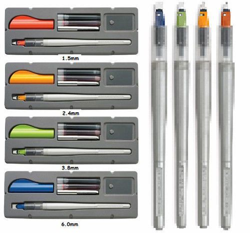 PILOT PARALLEL PEN SET Calligraphy CHOOSE 1.5mm, 2.4mm, 3.8mm, 6.0mm #Pilot