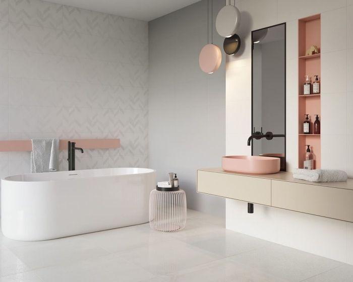 33+ Salle de bain grise et rose ideas