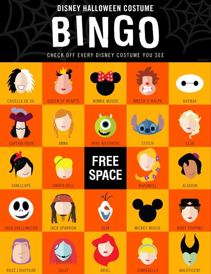 Disney Halloween Costume Bingo | Silly | Oh My Disney