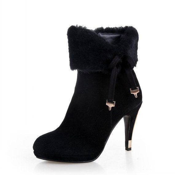 Women boots 2014 high heels platform boots for by LadiesShoes, $69.00