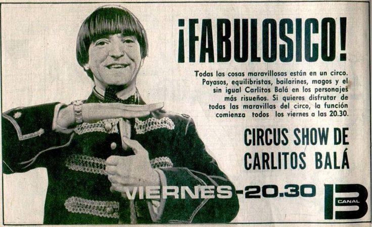 Publicidad programación de CANAL 13, Buenos  Aires, década del 70. Programa…