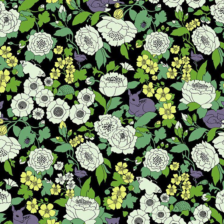 Animals in bloom - pattern by Heja Kaisa http://hejakaisa.se/portfolio/