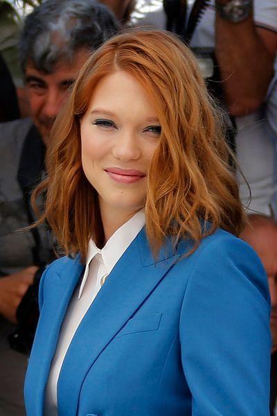4 - Le carré roux et wavy de Léa Seydoux - EN IMAGES. 60 coiffures à guetter pour la rentrée - L'EXPRESS