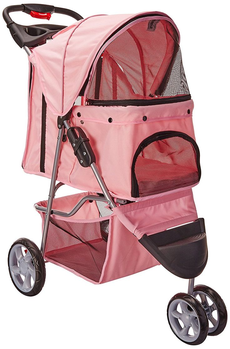 OxGord Pet Stroller Cat / Dog Easy Walk Folding Travel