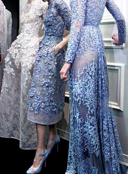Elie Saab. white + periwinkle + lace + sheer XX<3