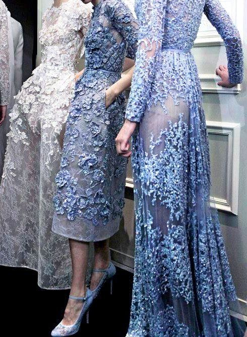 Periwinkle looks to the couture shows for style inspiration #periwinkle #eliesaab