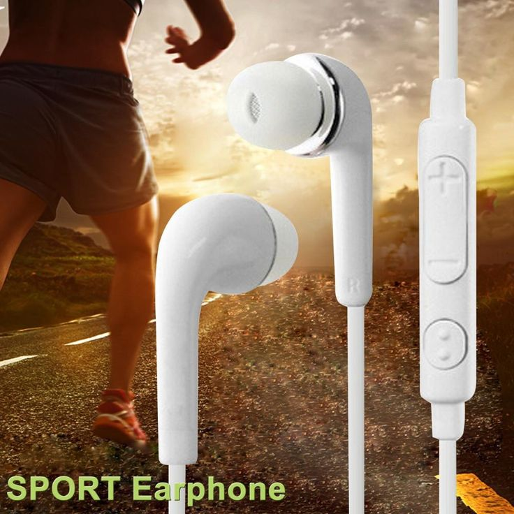 Sport headphones 3.5MM In-ear Earphone Noise Cancelling with Microphone for iPhone Samsung PC