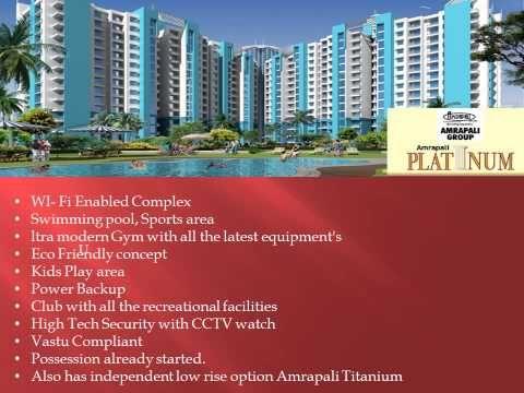 Amrapali Platinum 3 bhk @ 65 lacs 9560090045