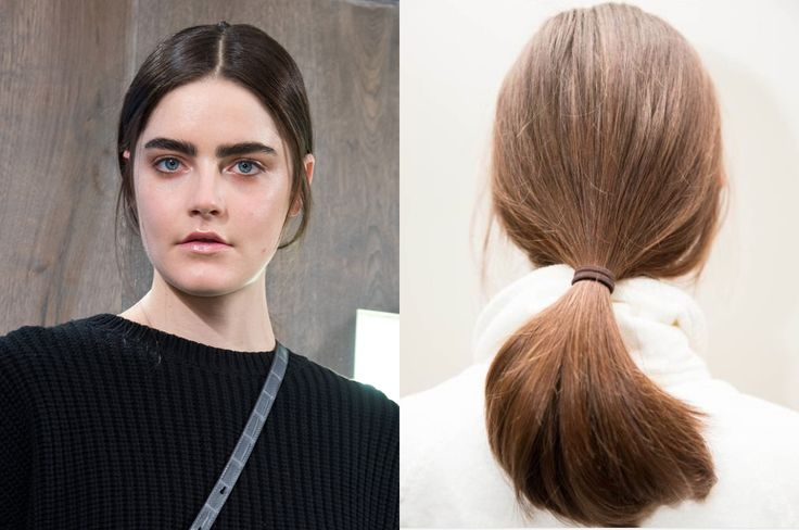 There are low ponies galore this season, and Amanda Wakeley has joined the bunch with a 'do that straddles perfectly polished and gorgeously undone. The back of the hair was pumped with gloss using the Bumble and bumble All Style Blowdry Balm to create a sleek, luxe look - ideal for a posh ponytail. In the front, some broken tendrils were pulled free to prettily frame the face, while also lending the 'done' hairdo a wearable, flyaway texture.     - Cosmopolitan.co.uk