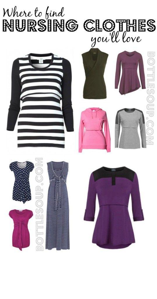 8 places to buy stylish nursing clothes. #breastfeeding #nursing #breastisbest