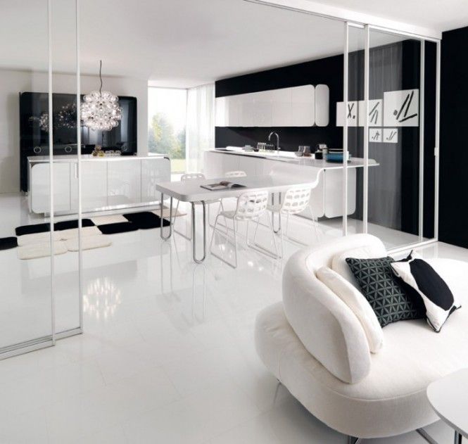 Flowing Open Interiors From Euromobil · Modern KitchensWhite ... Amazing Ideas