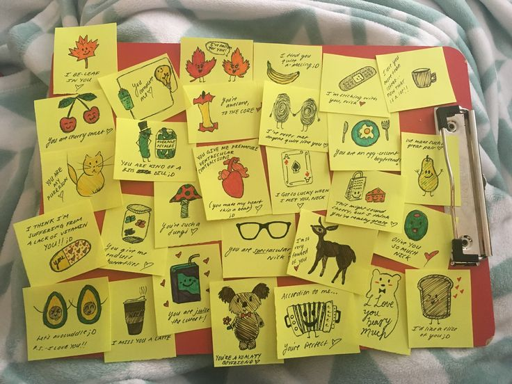 lots and lots of doodles and puns for a present I gave my boyfriend for our one year! #art #love #gifts #gift #boyfriend #oneyear #anniversary #presen…