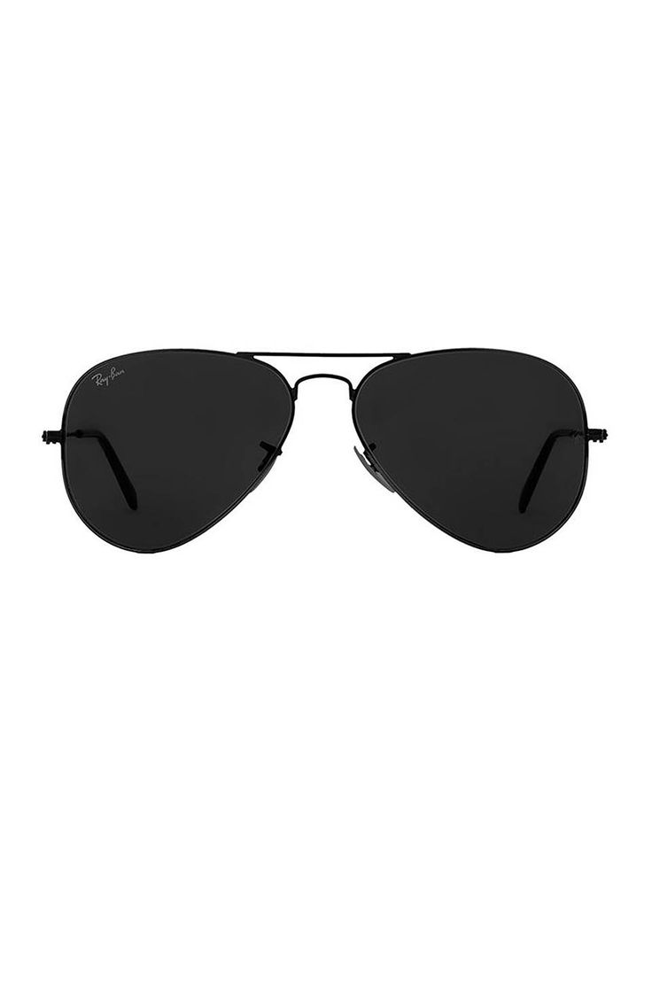 Ray-Ban Aviator in Black | REVOLVE All black good for school football games. Go Pokes!