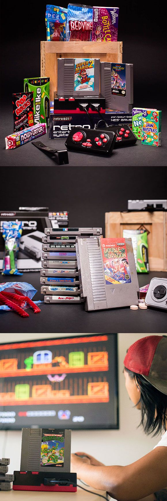 Is your Dad a classic gamer? He may poke at his smart phone like it's an alien life form, but get this Retro-Bit NES console into his hands, and his muscle memory will kick in faster than a Street Figher II Hurricane Kick.  The Retro Gamer Crate will breath new life into his old school NES collection and send him  on a sugar-fueled nostalgia trip back to simpler times. The perfect gift for the Gamer Dad.