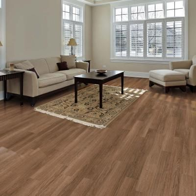 TrafficMaster Allure Plus Easton Oak Brown 5 In X 36 Resilient Vinyl Plank Ideas For Living RoomLiving