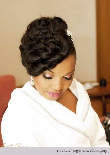 Nigerian wedding bridal hairstyles. This is perfect!