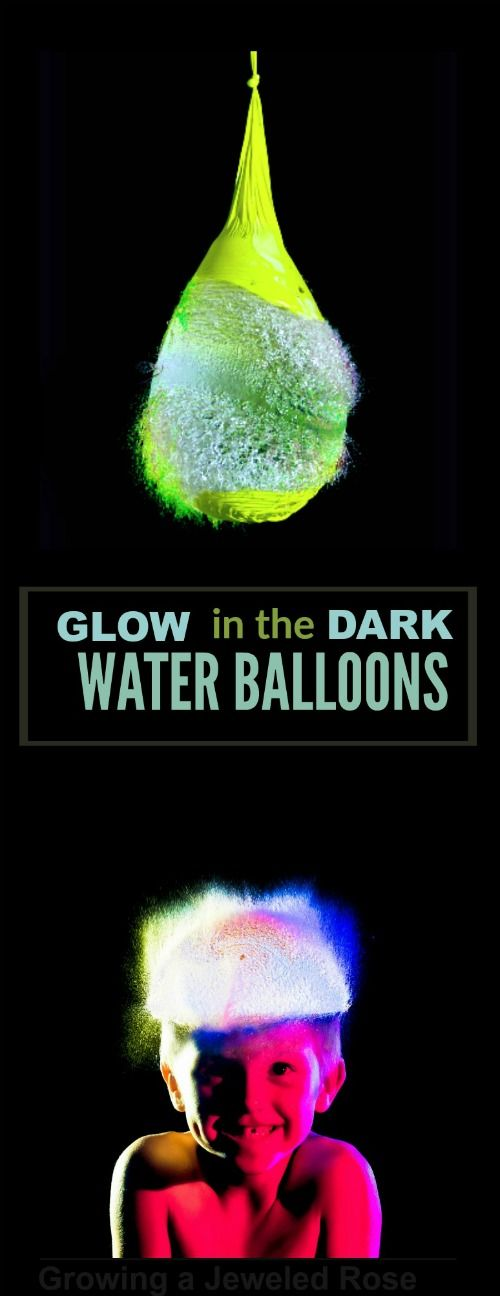 EPIC SUMMER FUN!  Glow-in-the-Dark Water Balloons (a new & easy way)  I can't wait for Summer!!!