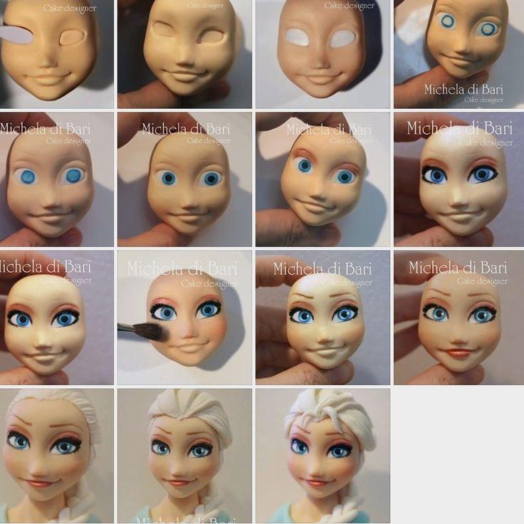 Elsa tutorial viso ♥ Elsa face tutorial