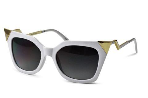 Stiletto in White & Gold