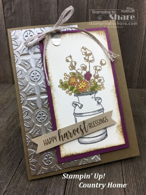 Fabulous Fall Card With Country Home For Fab Friday FB Live