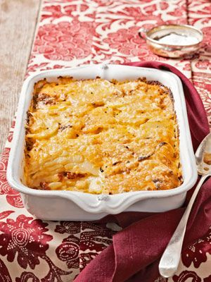 Pimento Cheese Gratin #recipe: Each forkful oozes with cheese, and has a sweet, tangy bite. #thanksgiving