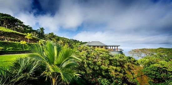Resort Design Idea: Lovely Retreat in Fiji : View Of The Lush Of Vegetation And Mountain