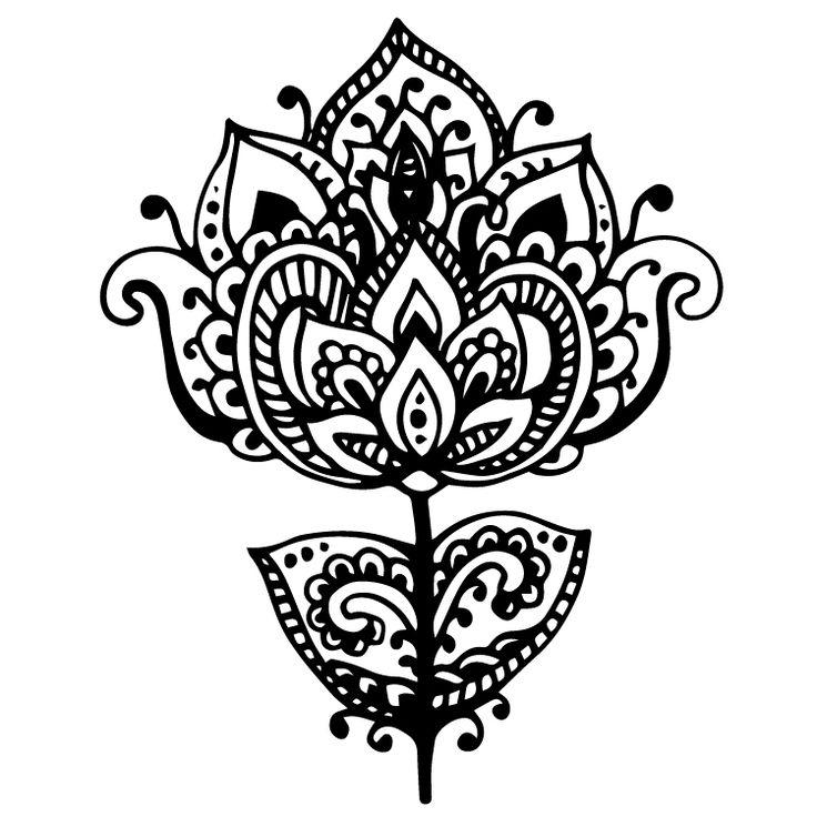 Henna Design Temporary Tattoos #641