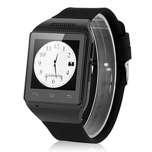 Excelvan KP63 Bluetooth Reloj Smartwatch (Pantalla 1.54 pulgadas ,GSM Movil Libre, FM Radio, Tarjeta TF SIM, Multilenguje) - Negro #friki #android #iphone #computer #gadget