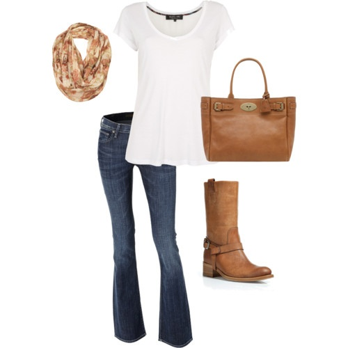 Effortless Fall Outfit... Can't wait til the weather allows for some jeans and t-shirts with boots!A Mini-Saia Jeans, Cant Wait, Fall Casual, Effortless Outfit, Weather Allowance, Fall Outfits, Fall Outfit Lov, Boots, Effortless Fall