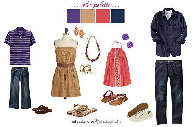 purple Family Picture Outfit Ideas | Casual but nice | clothing ideas for family photos, jewel tones