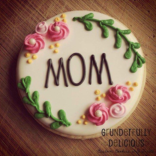 Mother's Day cookies from last year #decoratedcookies #sugarcookies by grunderfullydelicious