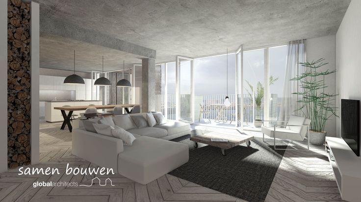 #cpo #samen bouwen #blok0 #houthavens #hedendaags ontwerp #architect #interieur loft appartement